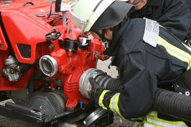 Saugschlauch an Pumpe