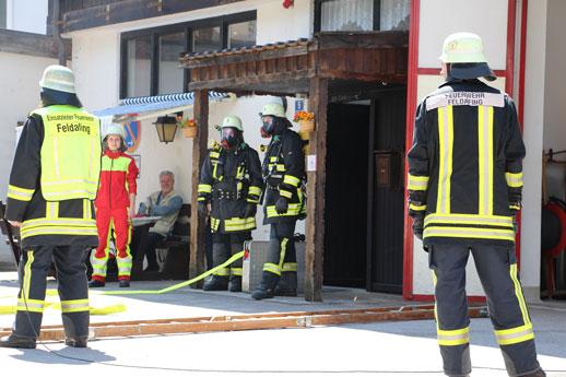 Zimmerbrand-Vorführung