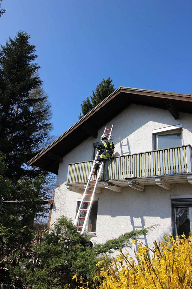 Personenrettung über die Leiter