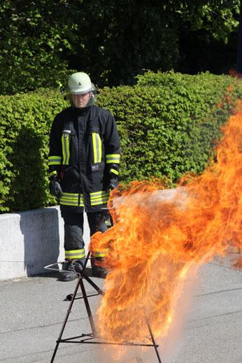 Vorführung Fettbrand
