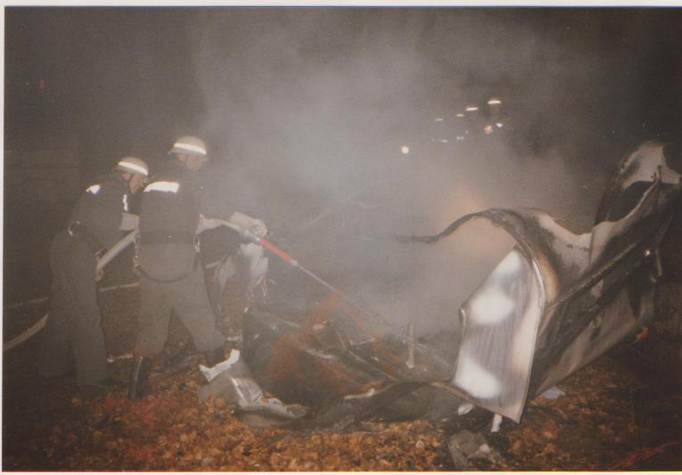 Wohnwagenbrand beim Forsthaus Robl