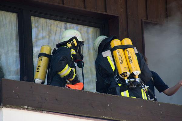 Personenrettung vom Balkon