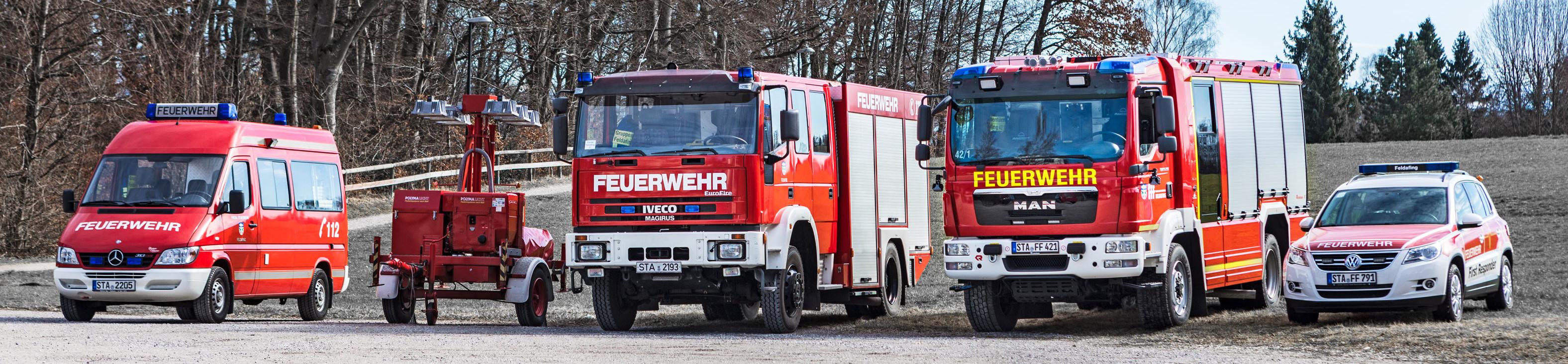 Alle Fahrzeuge der Feuerwehr Feldafing